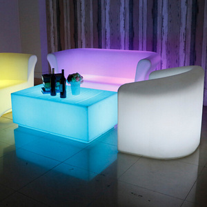 RGB Color Changeable Waterproof Plastic Night Club LED Furniture Set
