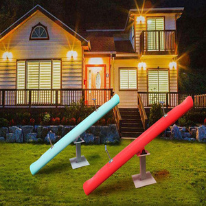 Outdoor Colorful Round Plastic Garden Patio LED Illuminated seesaw
