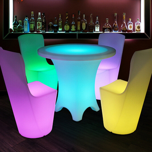 RGB 16 Color Changeable Waterproof Plastic LED Dining Table