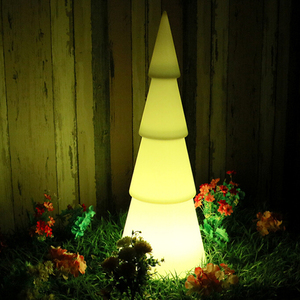 Waterproof Plastic Tree Shaped LED Lamp For Christmas Outdoor Decoration(Dia.30×77cm)