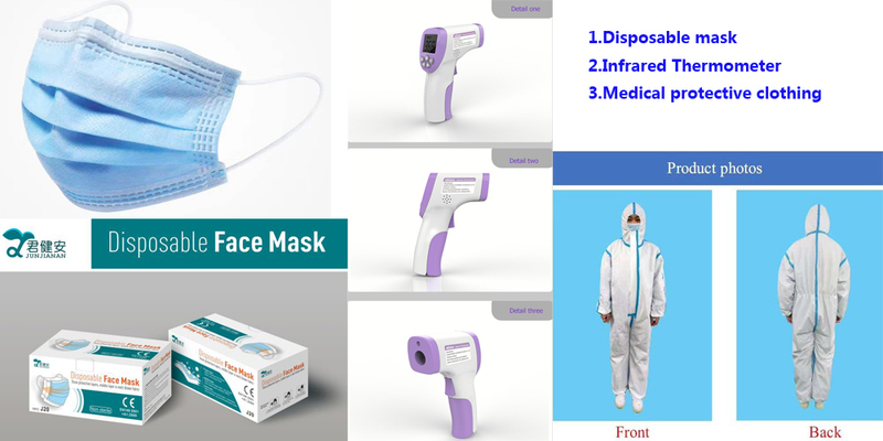 Disposable mask&Infrared Thermometer&Medical protective clothing.jpg
