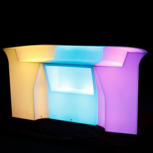 RGB Color Change Waterproof Illuminated Plastic LED Bar Counter Set