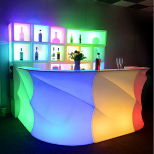 Cordless RGB Color Changing Waterproof LED Wave Pattern Bar Counter
