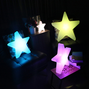 Remote Control and Rechargable LED Five-pointed Star Light for Wedding (60×60×H15CM)