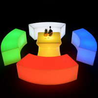 LED Snake illuminated benches