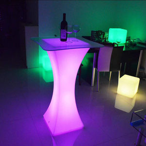 RGB 16 Color Changeable Remote and Rechargeable LED Cocktail Bar Counter