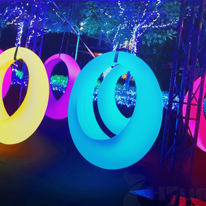 RGB Color Changeable,Waterproof Theme Park used LED Swing