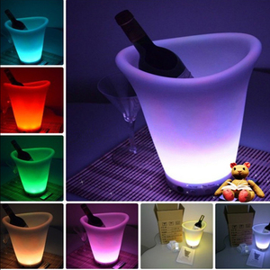 RGB 16-color Changing Modern UV-resistant Two Angle LED Ice Bucket
