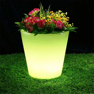 RGB 16 Color Changing Waterproof Plastic LED Round Flower Pot