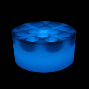 Cordless RGB Color Changing Round and Square Porous LED wine tray