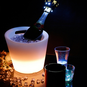 Indoor Outdoor Cordless RGB Color Changing LED Portable Ice Bucket
