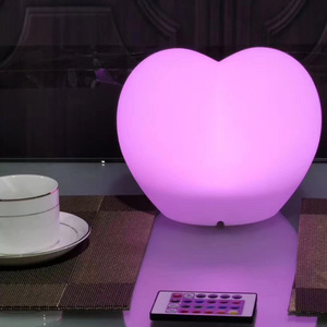 RGB 16 Color Change LED Heart Shaped Lamp for Wedding Decoration (20*14*H16.5cm)