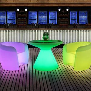 Waterproof Remote and Rechargeable Illuminated LED Dining Table