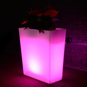 Cordless Waterproof & RGB Color changing High LED Flower Pot