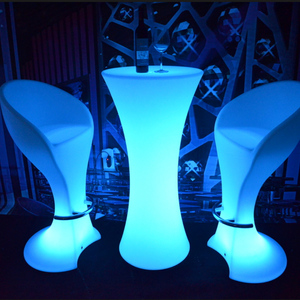 RGB 16 Color Change Waterproof Plastic Night Club LED Cocktail Table,LED Barstool