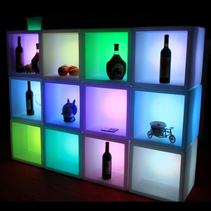 RGB 16-color Changing Modern UV-resistant LED Square Flower Pot