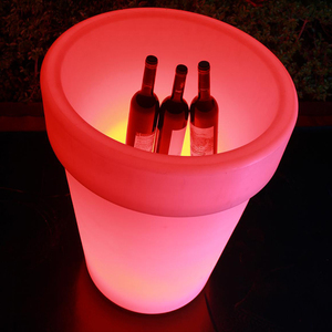 Remote and Rechargeable Plastic LED Illuminated Flower Pot