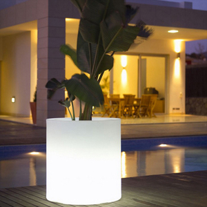 RGB 16 Color Changing Waterproof Illuminated LED Round Flower Pot