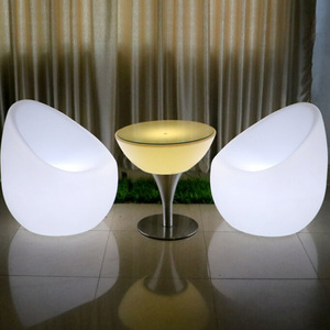 RGB 16 Color Changeable Waterproof Plastic LED Furniture Set,LED Spherical Sofa,LED Coffee Table