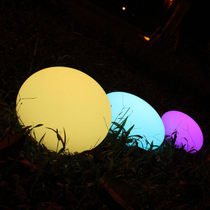 Large Outdoor Colorful Waterproof LED Decoration Egg Shaped Light(Dia.35)
